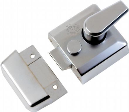 M Marcus York Security NL3040-SC Cylinder Rim Nightlatch 40mm Satin Chrome
